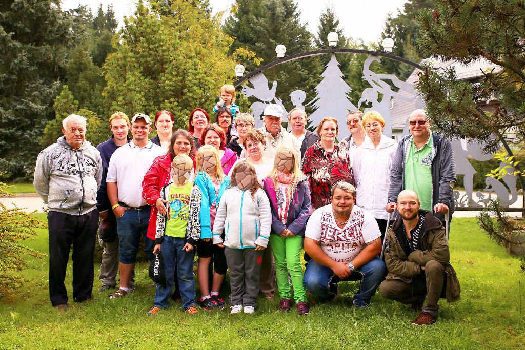 Gruppenfoto Filzteich Schneeberg Kreuzbund