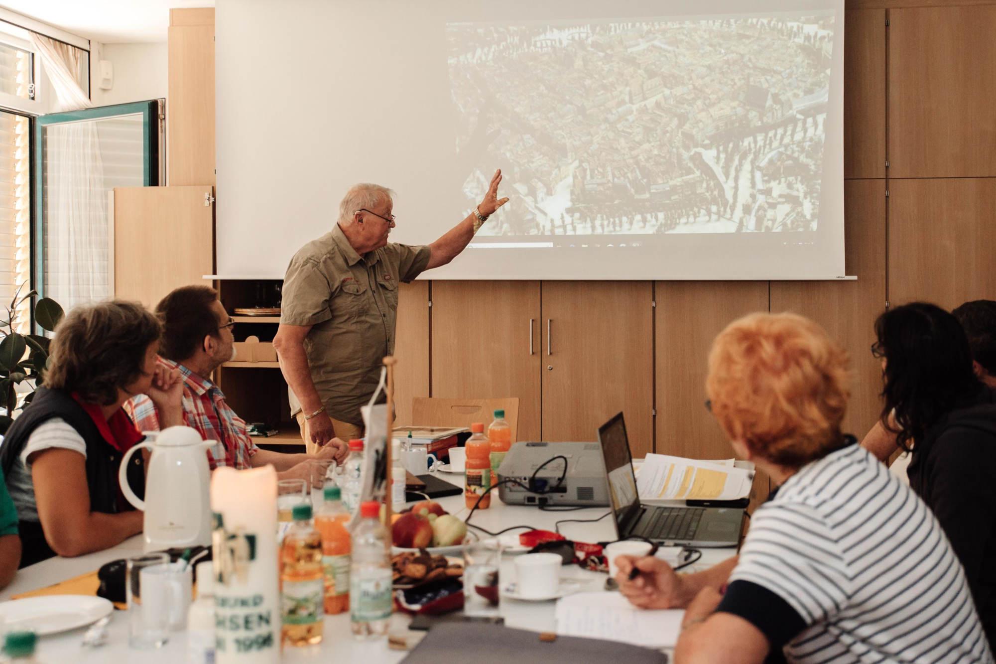 Michael Stahr referiert über Leipzigs Stadtgeschichte