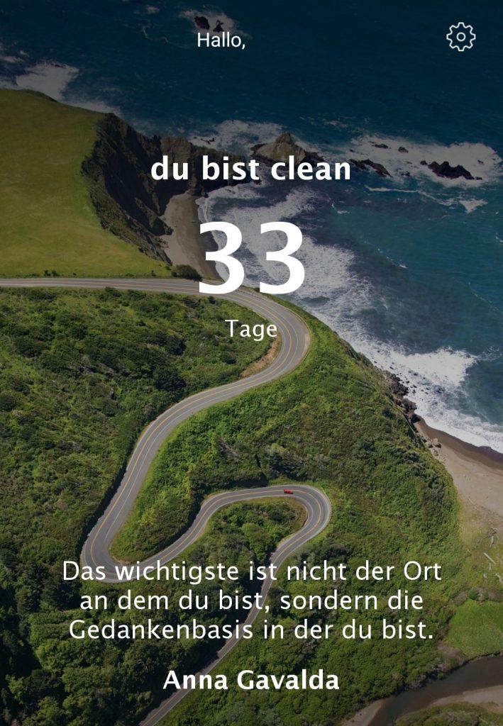"""Die App """"Clean Day"""" zählt Deine Abstinenztage."""