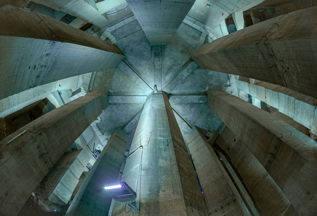 Im Inneren des Fundaments des Völkerschlachtdenkmals